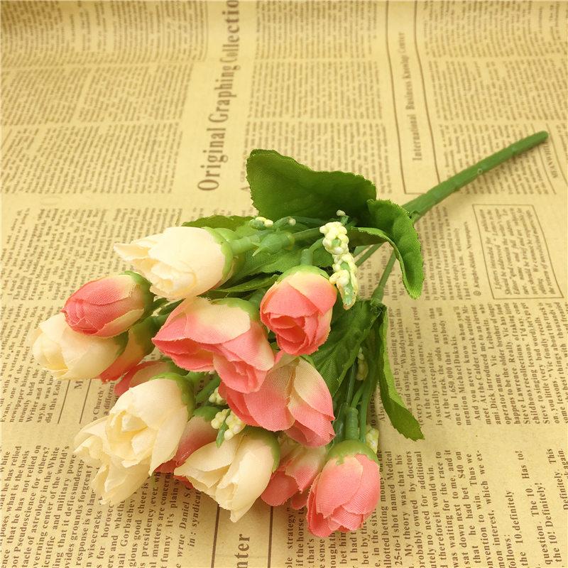 5pcs Set Whole Artificial Rose Spring Silk Flowers Plastic Decorative Home Wedding Party Garden Decor Mariage Fl Bouquet In Dried