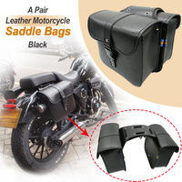 Motorcycle Saddlebags for Harley Sportster XL883 XL1200 XL 883 1200 Luggage Black and Brown Side PU Saddle bag Leather