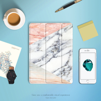 For IPad 2017 Case GOLP Marble Pattern PU Leather Smart Cover For Ipad Pro 10 5