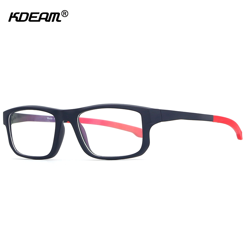 KDEAM New Design Sport Eyeglasses Frame Patchwork Spectacles Anti Blue-raying Computer Glasses With Full Package KD1105