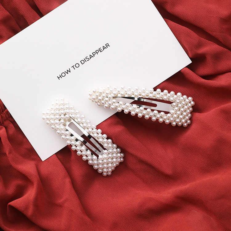 Offre spéciale filles perles de perles d'imitation BB pinces à cheveux épingles à cheveux de mode Simple femmes de luxe doux pinces à cheveux accessoires