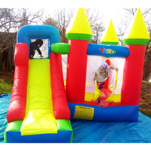лучшая цена YARD Inflatable Bouncer Castle Trampolines Slides Outdoors Inflatable Castle Games Ship By Express Christmas