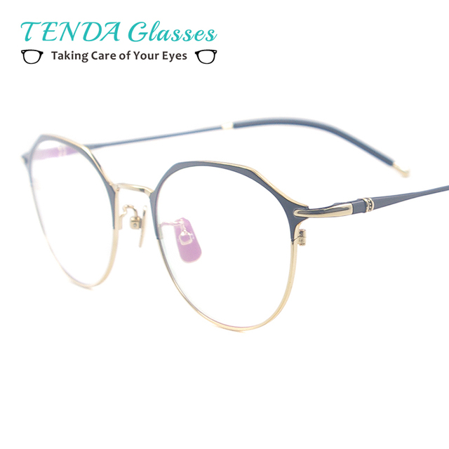 15b1886803a Women Metal Full Rim Vintage Eyewear Colourful Small Classic Spectacle For  Prescription Multifocal Lenses