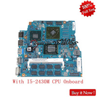 NOKOTION A1846534A For Sony Vaio VPCSA VPCSE VPCSB3 MBX 237 SR072 laptop Motherboard With I5 2430M CPU Onboard Full Tested