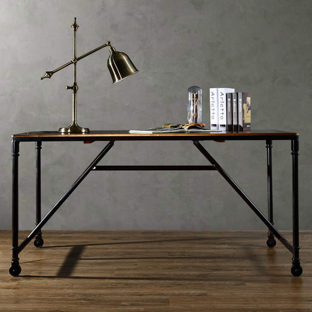 Genial Custom Solid Wood Furniture, Office Desk Loft American Industrial Design To  Do The Old Retro