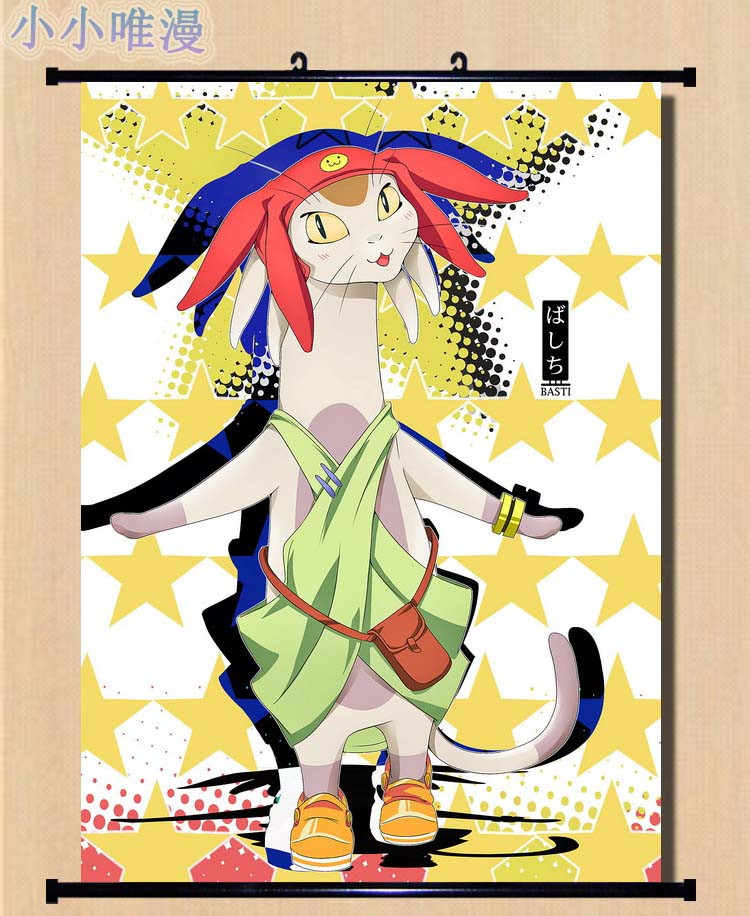 Japan Anime Decorative Pictures Space Dandy Dende & Meow & Honey & Admiral  Perry cosplay Home Decor Wall Scroll Poster