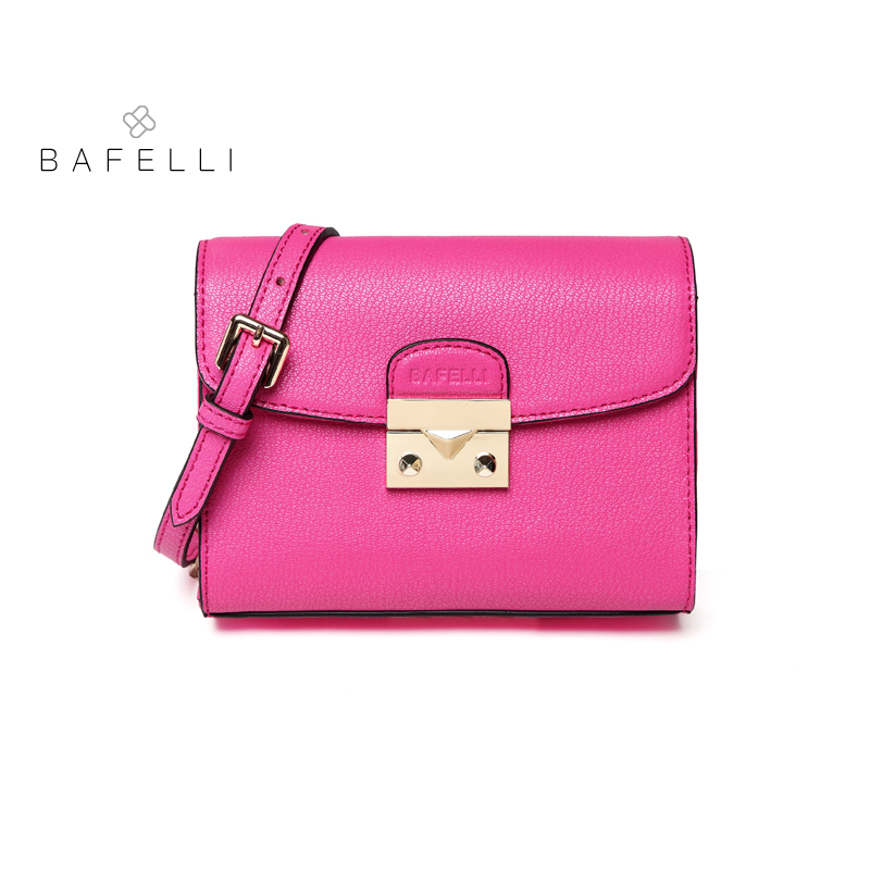 BAFELLI Split Leather Flap Women Shoulder Bag Crossbody Bags Red pink Luxury Handbags Women Bags Designer Messenger Bag 7 Colors ly shark crocodile cowhide leather women messenger bags luxury handbags women bags designer crossbody bags women shoulder bag