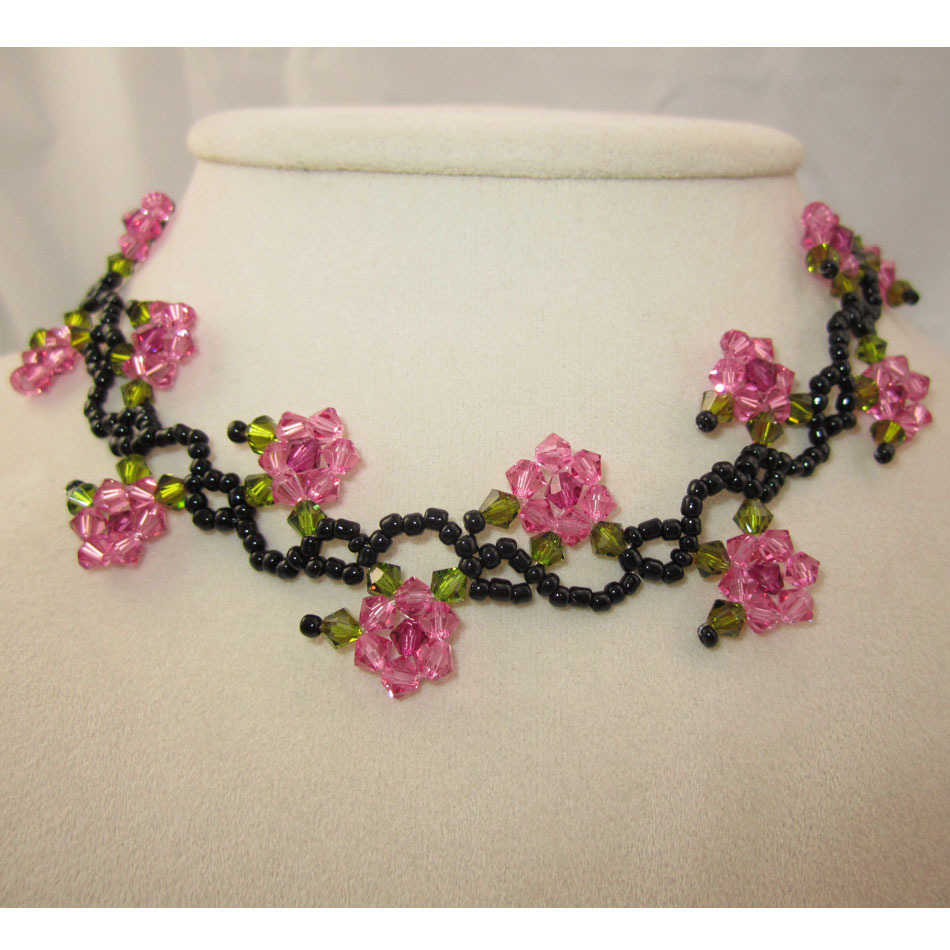 Free Shipping Floral Necklace Kids Jewelry Pink And Green Necklace Rose Flower Chocker Necklace For Girls  Delicate NecklaceFree Shipping Floral Necklace Kids Jewelry Pink And Green Necklace Rose Flower Chocker Necklace For Girls  Delicate Necklace