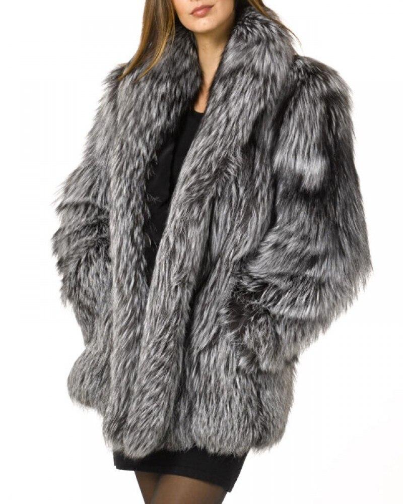 W-031 Nouveau Style Haute Imitation Fourrure De Renard Manteau Long En Fausse Fourrure Manteau Femme manteau d'hiver Hiver vêtements féminins