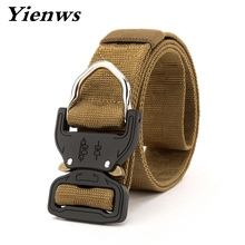 Фотография Yienws Military Equipment Tactical Belt Men Nylon Belts Male Waist Swat Strap With Buckle US Army Soldier Carry YB062