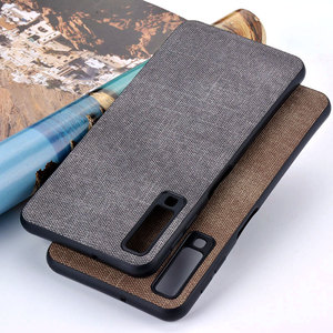 Image 2 - Case for Samsung Galaxy A5 A6 A7 A8 A9 A10 A30 A50 M30 M20 M10 Star 2017 2018 coque case Luxury Fabric Cloth Leather cover funda