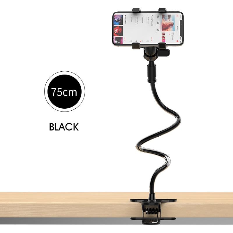 Cep telefonları ve Telekomünikasyon Ürünleri'ten Cep Telefonu Tutucuları ve Standları'de LINGCHEN 360 derece esnek kol masa telefon tutucu standı uzun tembel yatak masaüstü tablet tutacağı iPhone huawei Xiaomi Pad iPad title=