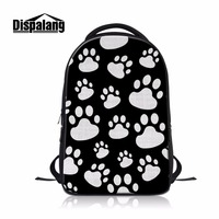 Dispalang Beautiful Laptop Backpacks for Students Foot Mark 3D Printing on Book Bags Computer Back Bag for Teenager Boy's Gift