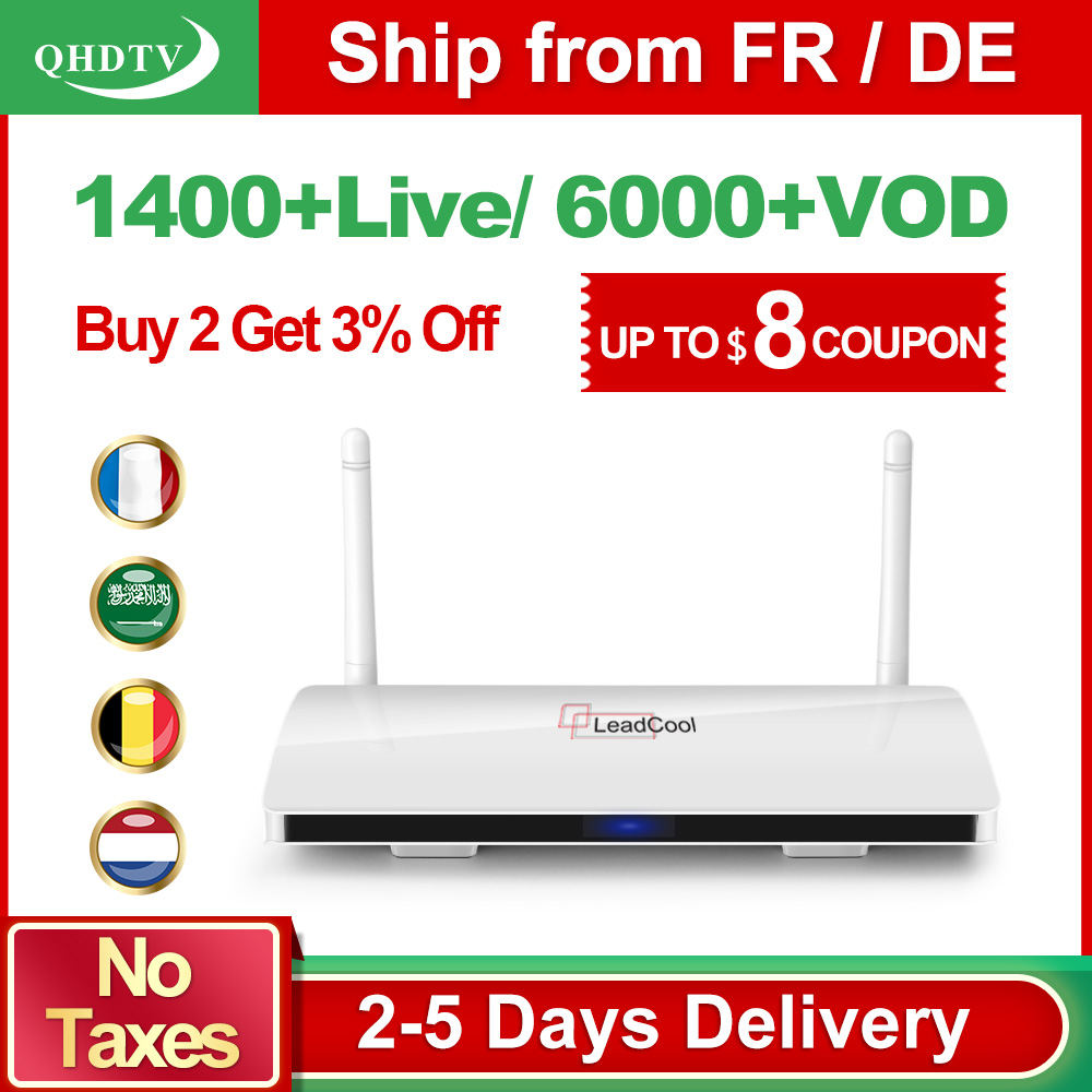Leadcool QHDTV Árabe Francia IPTV 1 año Receptor de suscripción a - Audio y video casero - foto 1