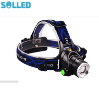 Lampe frontale Zoomable Rechargeable SOL LED T6 LED