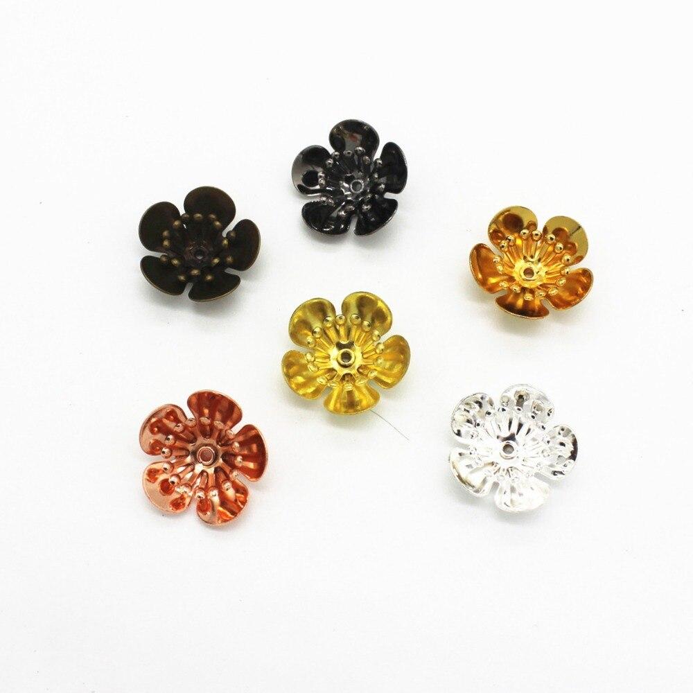 Mer MEW 16MM * 6MM 6 couleurs plaqué cuivre fleurs réglage de la Base filigrane enveloppes connecteurs breloques trouvailles pour la fabrication de bijoux 10 pièces