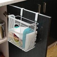 Metal Basket Kitchen Door Cabinet Drawer Back Hanger Bathroom Office Sundries Organizer Storage Rack Hook Holder