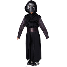 New Arrival Boys Deluxe Star Wars The Force Awakens Kylo Ren Classic Cosplay Clothing Kids Halloween Movie Costume for children