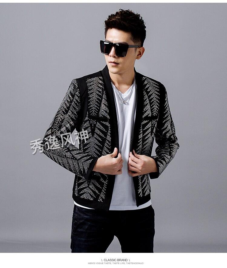 Luxury Mens Full Rhinestone Tuxedo Jacket/stage Performance Jacket/stage/stuido/club/ ASIA SIZE Jacket