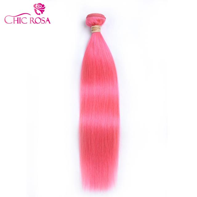 Chic Rosa Pre Colored Pink Human Hair Straight Remy Human Hair