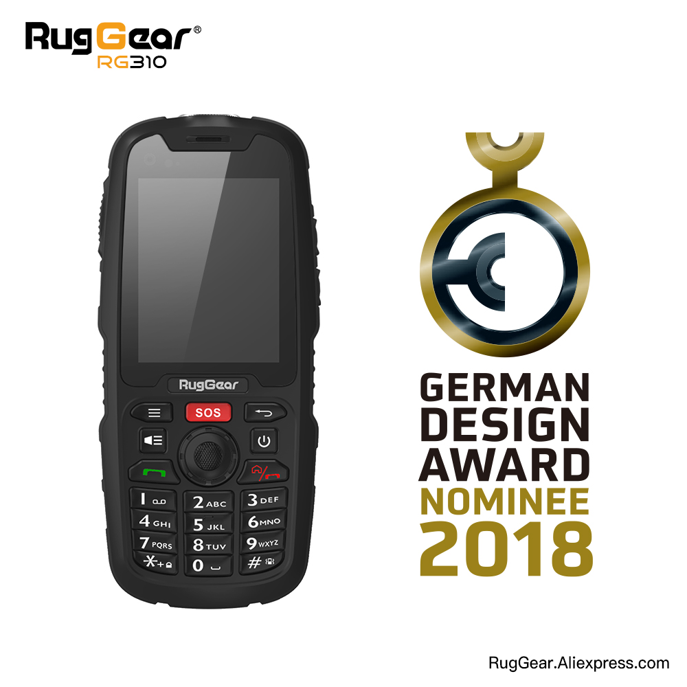 RugGear310B unlocked outdoor waterproof smart phone black