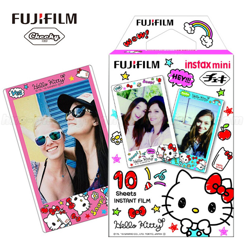 цена на Genuine Fujifilm Instax Mini 9 Instant Film Hello Kitty Photo Paper 10 Sheets For Fuji 8 7s 70 50 90 25 Share SP-2 Mini Cameras