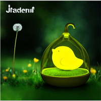 Jiaderui Lovely Birdcage LED Night Light USB Rechargeable Touch Table Light Portable Night Lamp For Children