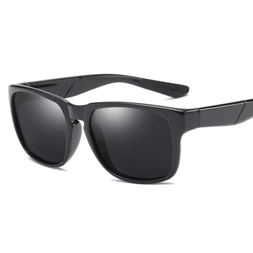 Moda cuadrado marco al aire libre conducción gafas de sol polarizadas plata  Azul Rojo Verde Negro 40682812b386