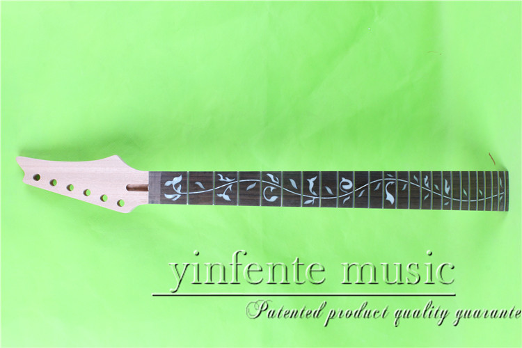 YZ-0090#      25.5 Electric guitar neck   Bolt on  rosewood    fingerboard fine quality  24 fret s 00166 25 5 big head electric guitar neck fine quality rosewood fingerboard 22 fret