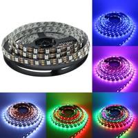 WS2812 LED Strip Light 5050 RGB dream color Pixel Digital tape 5M DC5V 60 led/M Flexible Non waterproof Black PCB strips