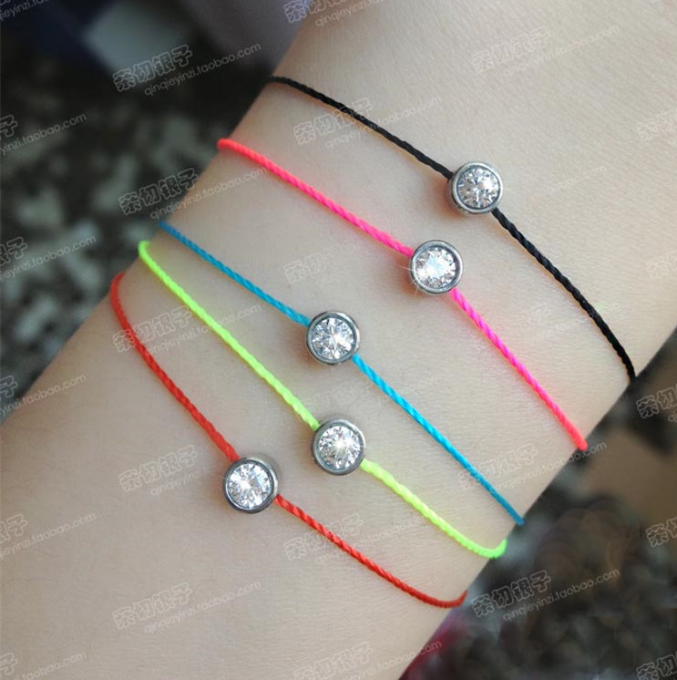 2017 Summer Redline Fluorescent Bracelet Austrian Cubic Sona Zircon Crystal Charms Bracelets Bangles For Women 26 032a2 In Charm From Jewelry
