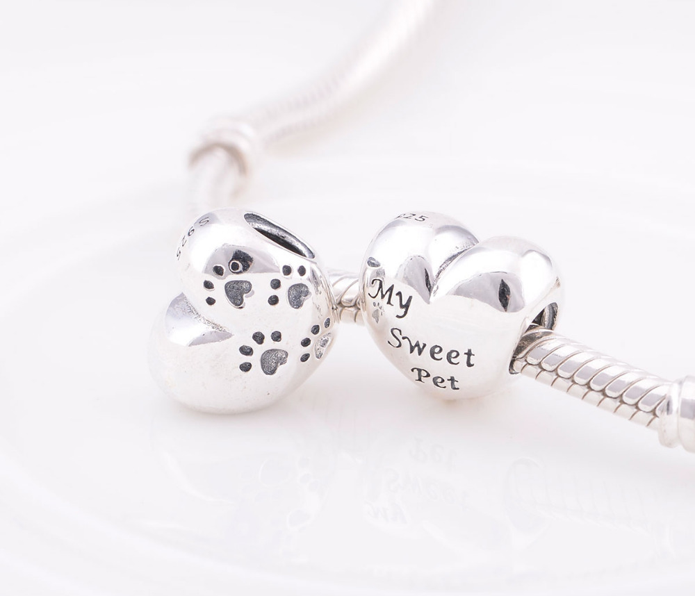 2014 New Arrival 925 Sterling Silver My Sweet Pet Hearts