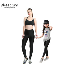 SheeCute familia cuero Leggings Sexy mujeres niñas tela fina Mediados de cintura skinny Stretchy leggings Pantalones