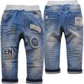 4008 регулярные детские джинсы мальчиков брюки светло-голубой детей эластичные брюки младенца мягкой моды новый повседневная весна осень