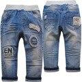 4008 pantalones vaqueros del bebé pantalones de los muchachos luz regular niños azules elásticos pantalones del bebé suave moda de nueva casual primavera otoño