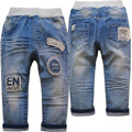 4008 regular baby jeans boys pants light blue kids elastic baby trousers soft  fashion new  casual  spring autumn