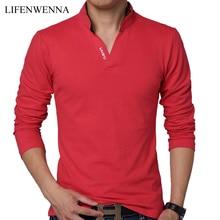 Лидер продаж; Новинка Мода 2017 г. бренд Для мужчин Поло рубашка сплошной Цвет с длинными рукавами рубашка узкого кроя Для мужчин хлопковое поло Рубашки для мальчиков Рубашки домашние муж. 5XL