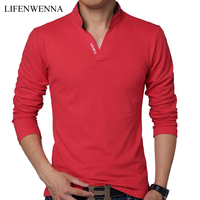 Korean Casual Slim Men S Polos Shirt Fashion Collar Letter Print Long Sleeved Polos Men Autumn