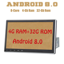 PX5 Android 8.0 da 10.2 pollici 1din universal car radio gps Octa core 4G di RAM 32G ROM wifi 4g usb Auto Stereo Multimed