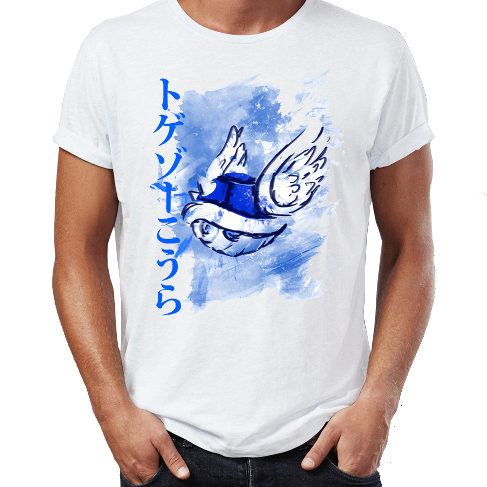 T-shirt Mario Kart Carapace Bleu Hommes