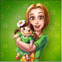 High Quality Diamond Cross Stitch Diy Embroidery Decoration Full Rhinestones Picture Painting Mosaic cartoon mother and child