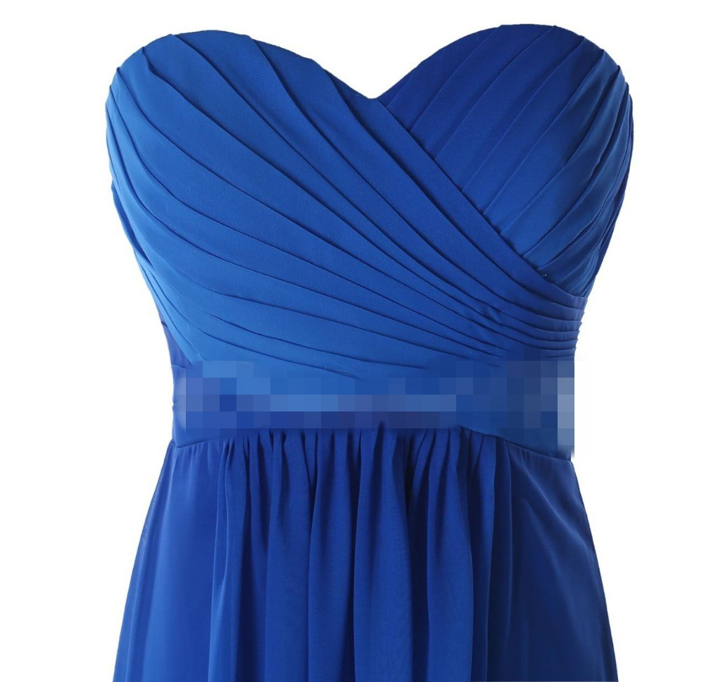 e6516ada88 Best Selling Ombre Blue Bridesmaid Dresses in Stock Sweetheart Pleat ...