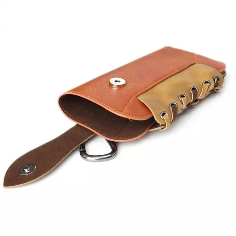 Vintage Waist Bags for 5.5 Inch Phone Elephant Grain Leather Waist Card Hold Phone Pouch Universal Fanny Pack Free Shipping