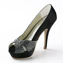 Peep toe frauen hochzeit heels frühjahr herbst satin braut heels schuhe hochzeitspumpen stiletto high heels RR-099 YY
