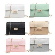 Fashion Casual Mini Crossbody Bag For Women PU Leather Candy