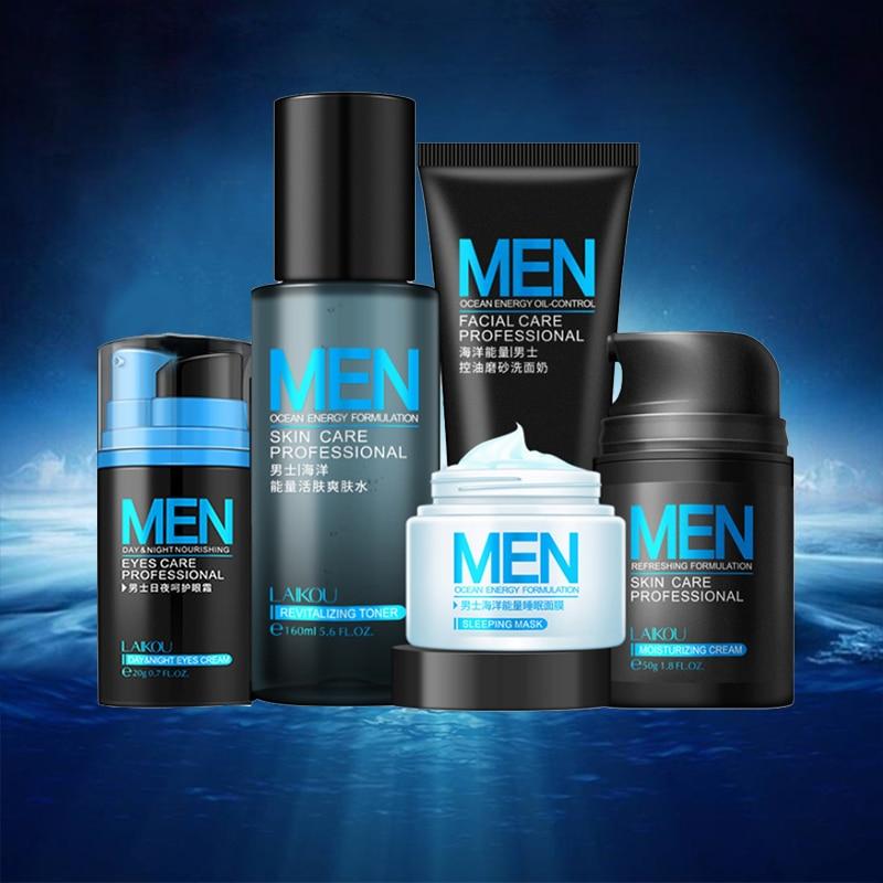 男性のスキンケアセットフェイスクリームアイクリーム美容スキンケアホワイトニングにきび治療保湿フェイスケア修理オイルコントロール6ピースボットビジュアルデスデアバジェデルアグア