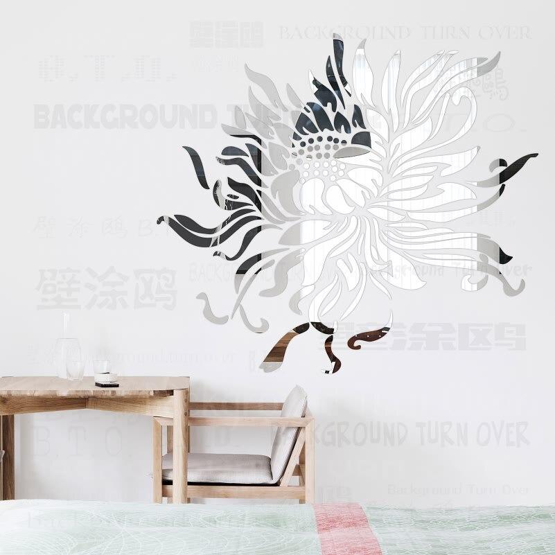 Kreative Romantische Sonnenblumen 3d Dekorative Spiegel