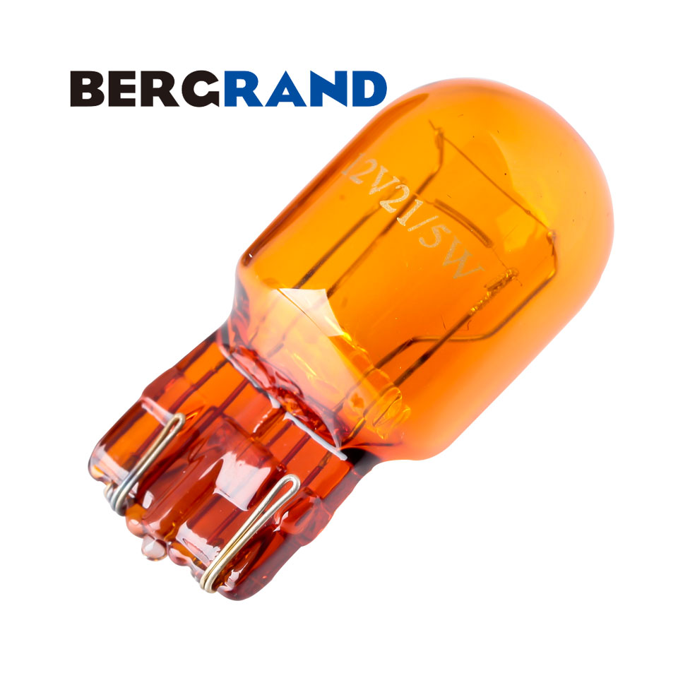 10PCS 7443 W21/5W T20 Natural Amber Glass Signal Lamp 12V 21/5W Indicator Light W16*3q Double Filaments WEDGE Auto Lamp