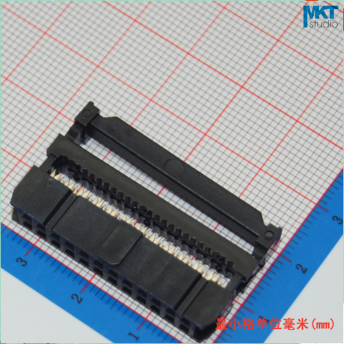 10Pcs Female 2x12 24P 2.54mm Pitch Spacing IDC Box Pin Header Shrouded Connector, For Flat Ribbon Cable