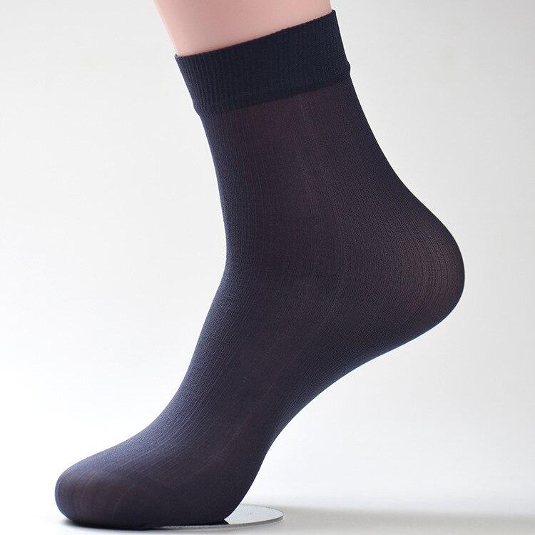 10 Pairs/lot Summer Mens Socks Bamboo Breathable Silk Socks Black Low Cut Mens Socks